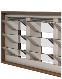 Easyscreen Multiple Louvre Window Bays