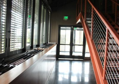 Lower level Breezway Louvres minimise the need for air conditioning