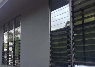 Breezway louvres can be angled to control airflow into office