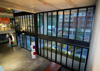 Breezway louvres close tight to provide protection from outdoor weather