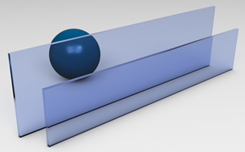 <strong>Blue Tinted Glass</strong><p>Works best to reduce solar heat gain - beneficial in hot climates.</p>