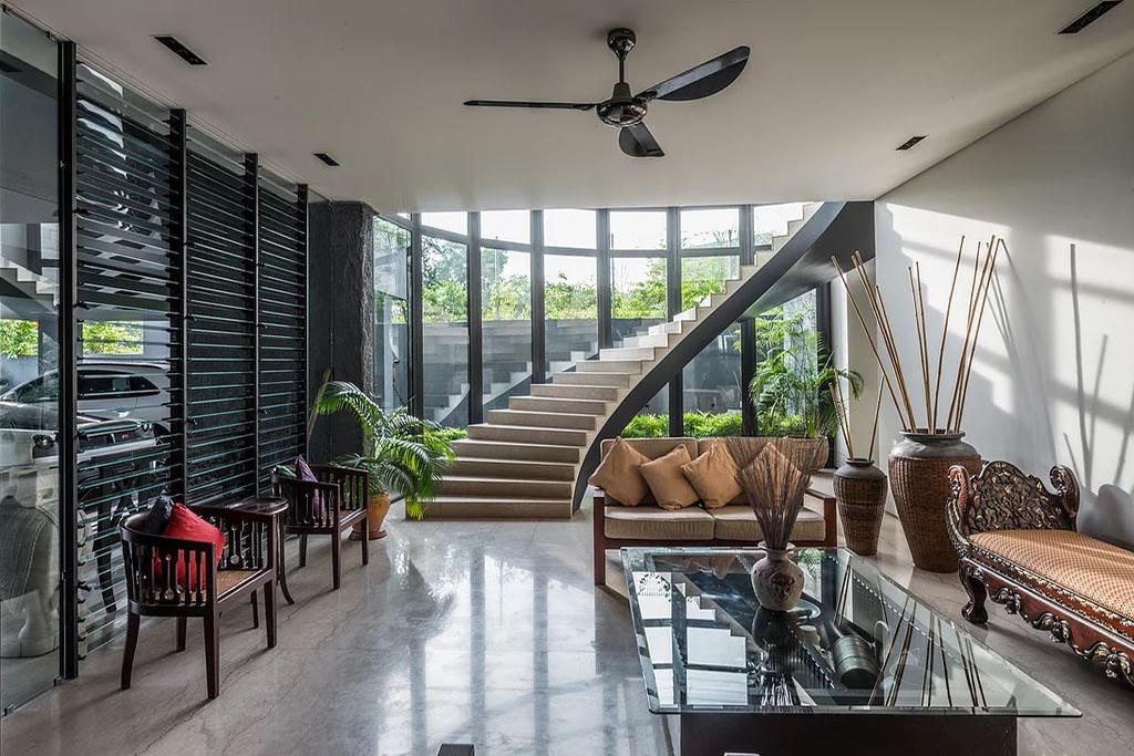 Brighten staircases with Breezway Louvres